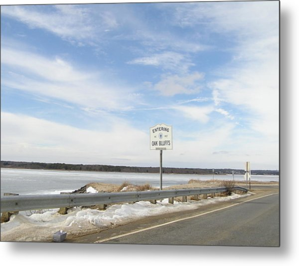 Road Sign Metal Print