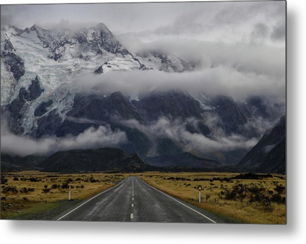 Road To Mt Cook Metal Print