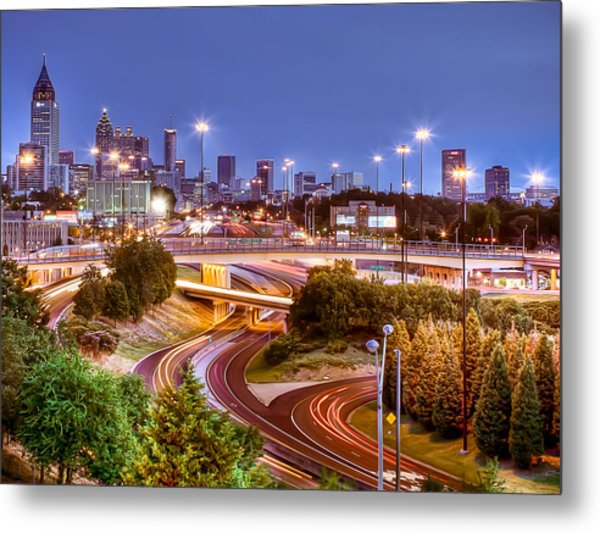 Road To The City Metal Print