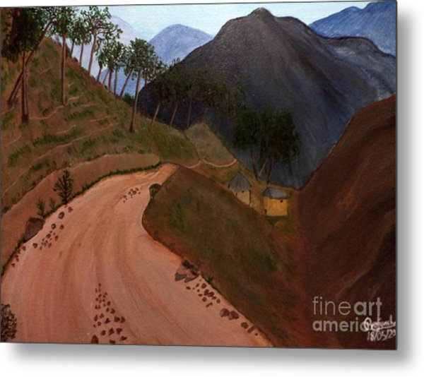 Road To The Hills II Metal Print