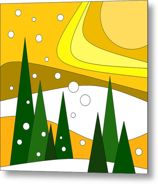 Road Trip Vi - Snow And Sun Metal Print