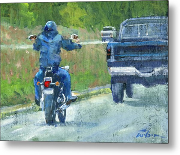 Road Warrior - Cruising Metal Print by Ron Wilson