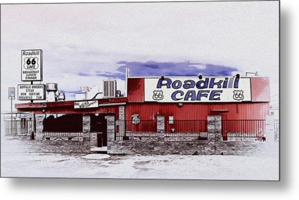 Roadkill Cafe Metal Print