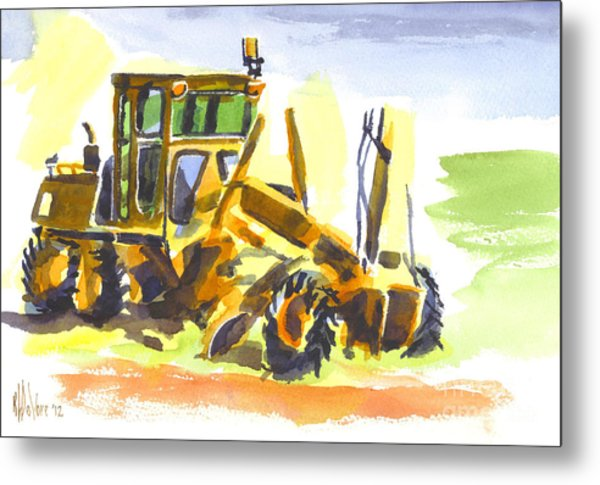 Roadmaster Tractor In Watercolor Metal Print
