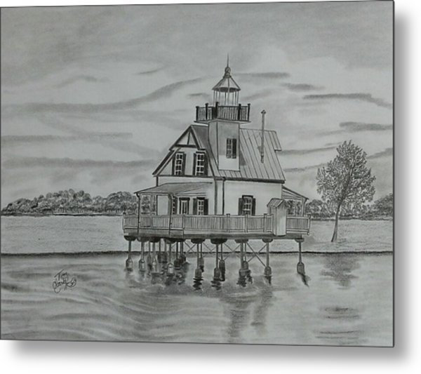 Roanoke River Lighthouse Metal Print by Tony Clark