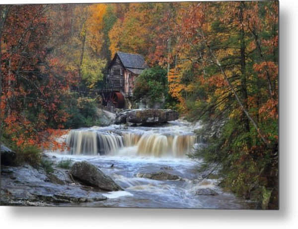 Roaring Past The Mill Metal Print