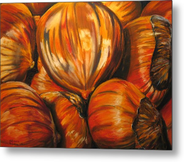 Roasting Chestnuts Metal Print