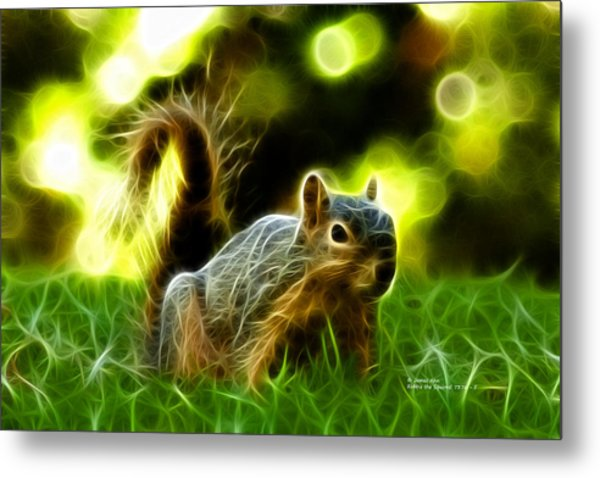 Robbie The Squirrel - 7376 - F Metal Print