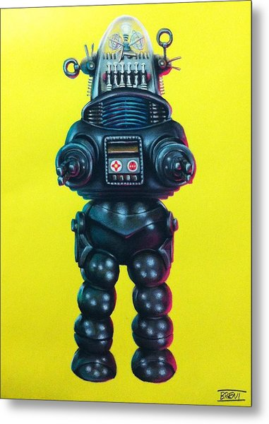 Robby The Robot Metal Print