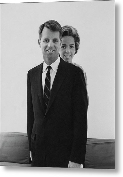 Robert F Kennedy And Wife Ethel Metal Print