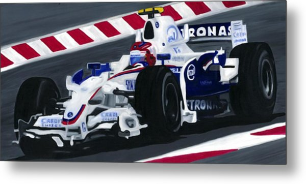 Robert Kubica Wins F1 Canadian Grand Prix 2008  Metal Print