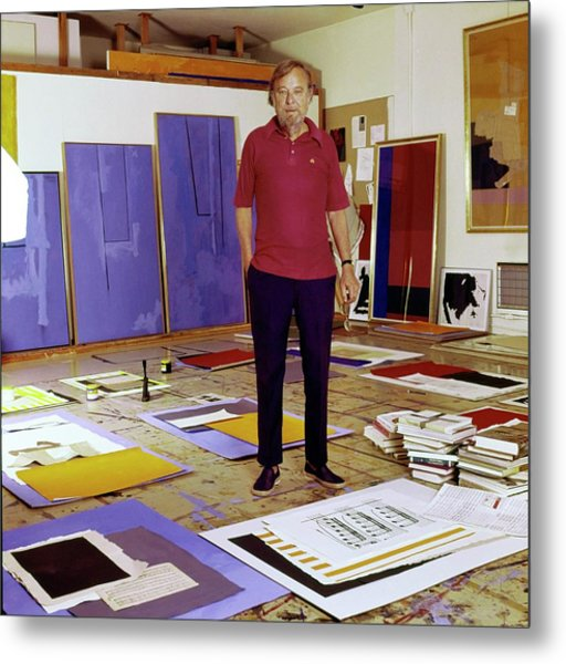 Robert Motherwell In His Studio Metal Print