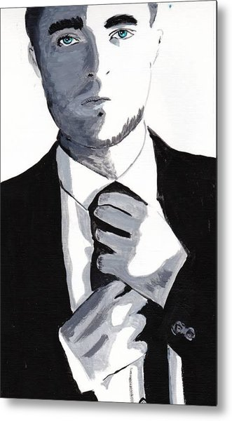 Robert Pattinson 80 Metal Print