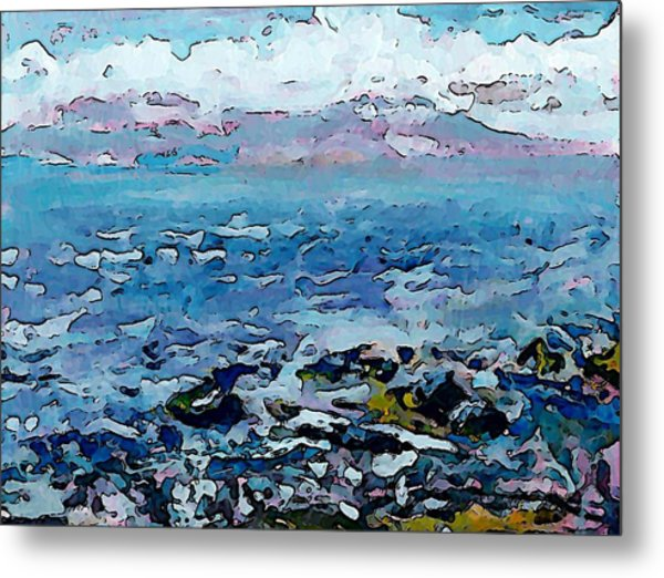 Roberts Creek Beach Metal Print