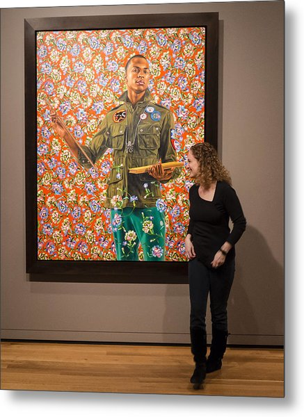 Robin And Anthony Of Padua By Kehinde Wiley  Metal Print