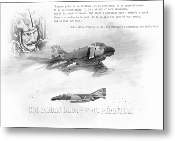 Robin Olds Metal Print by Peter Chilelli