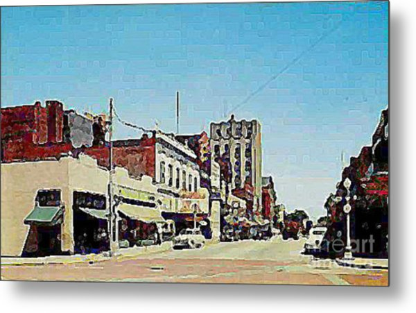 Robins Theatre In Niles Oh In The 1950's Metal Print by Dwight Goss