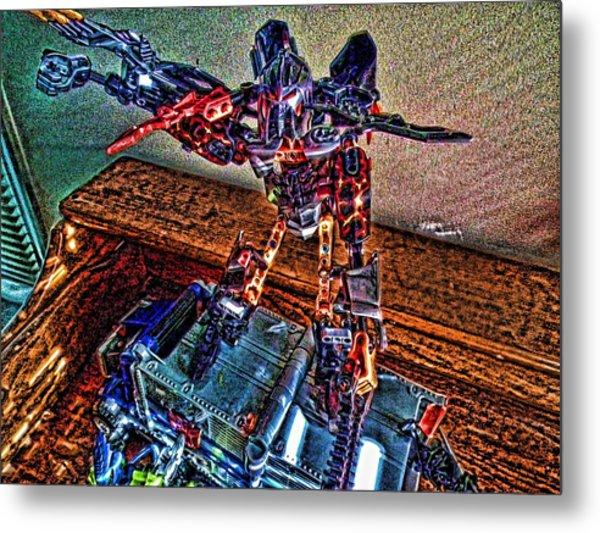 Robo Man Metal Print by Robert Rhoads