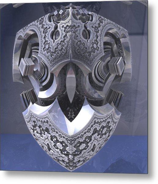Robot Heart Metal Print