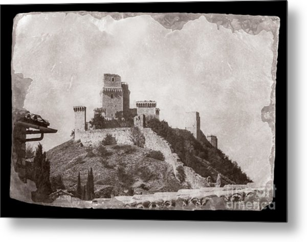 Rocca Maggiore Castle Metal Print