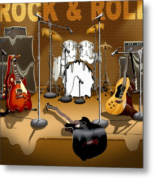 Rock And Roll Meltdown Metal Print
