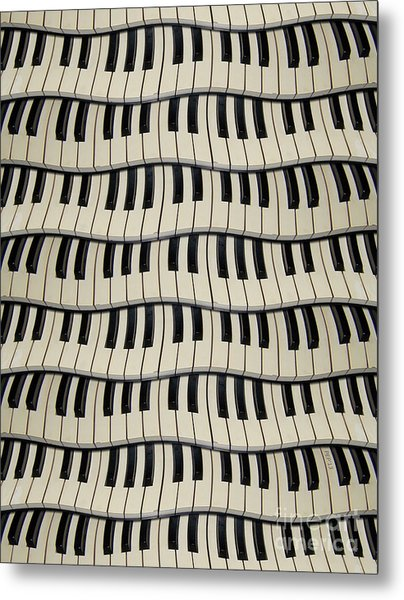 Rock And Roll Piano Keys Metal Print