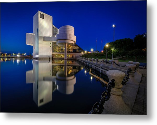 Rock Hall At Blue Hour Metal Print