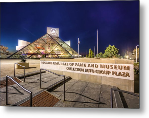 Rock Hall Plaza Metal Print