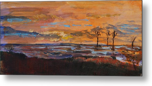 Rock Harbor Sunset Metal Print