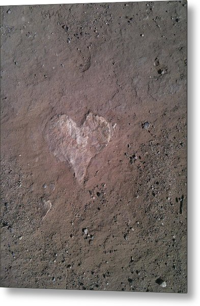 Rock Heart Metal Print