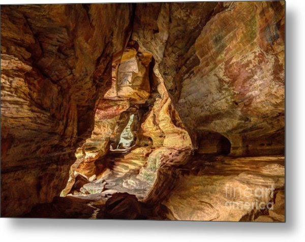 Rock House At Hocking Hills Oh Metal Print