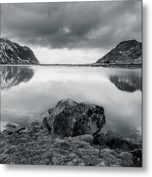 Rock In The Middle Metal Print