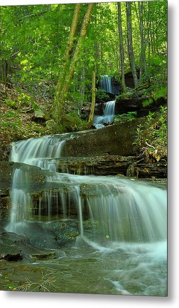 Rock Run Tributary Falls #1 Metal Print