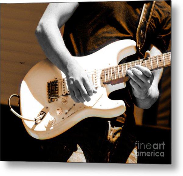 Rockabilly In Three Course Blues Metal Print by Steven Digman