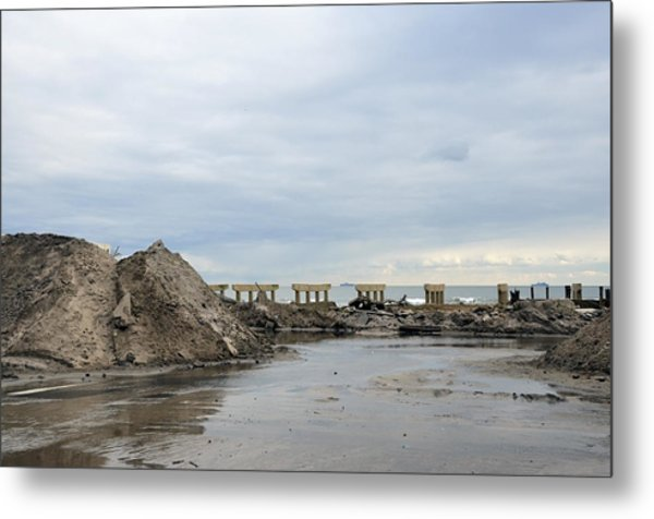 Rockaway Beach After Hurricane Sandy 4 Metal Print