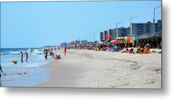 Rockaway Beach And Boardwalk Summer 2012 Metal Print