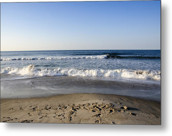 Rockaway Beach Morning Shoreline Metal Print