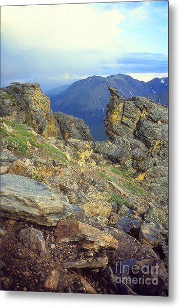 Rockcut In Rocky Mtn National Park Metal Print