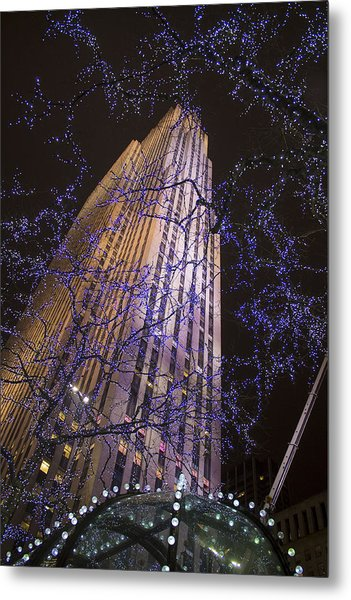 Rockefeller Center Night Lights Metal Print