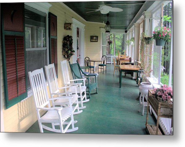 Rockers On The Porch Metal Print