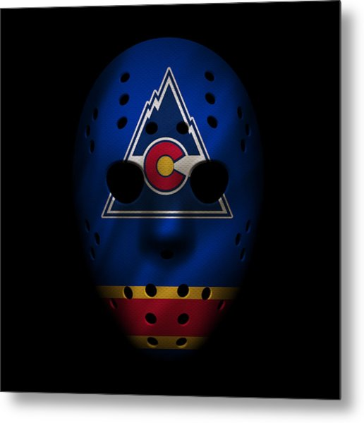 Rockies Jersey Mask Metal Print