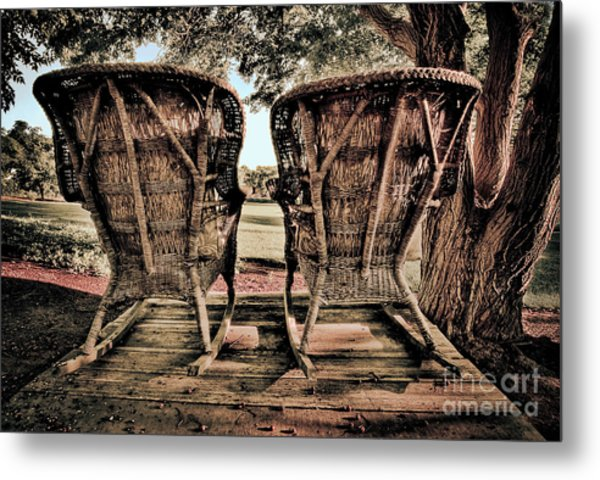 Rocking Chairs Metal Print
