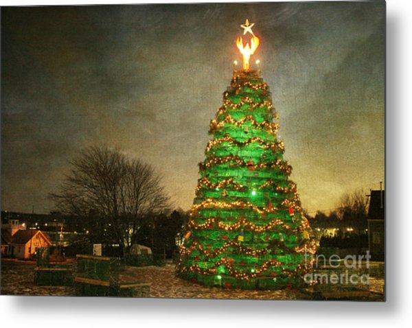 Rockland Lobster Trap Christmas Tree Metal Print