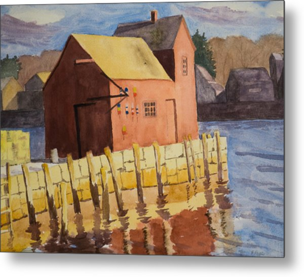 Rockport Motif Number One Metal Print by Peggy Poppe