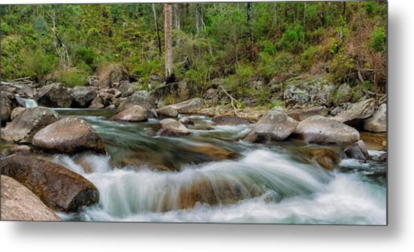 Rocks And Rapids Metal Print by Mark Lucey