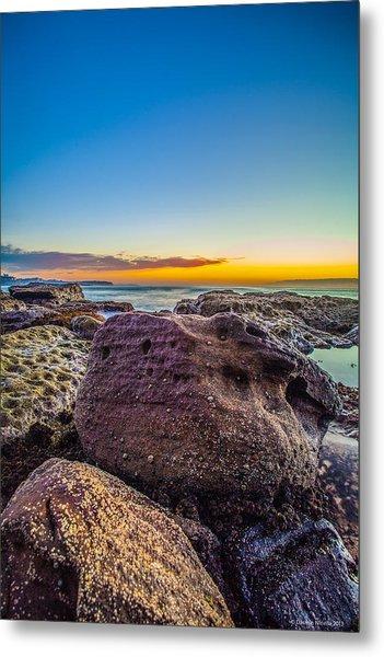 Rocks By The Sea 2 Metal Print by Dasmin Niriella