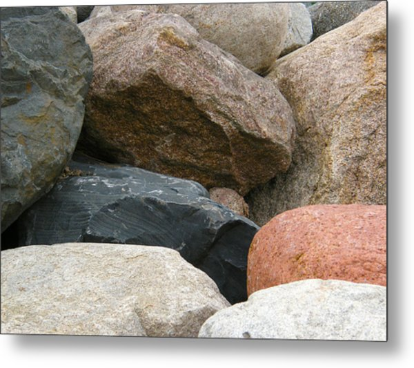 Rocks In Various Colors Metal Print