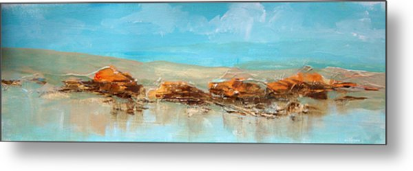 Rocks On The Beach Metal Print by Dale  Witherow