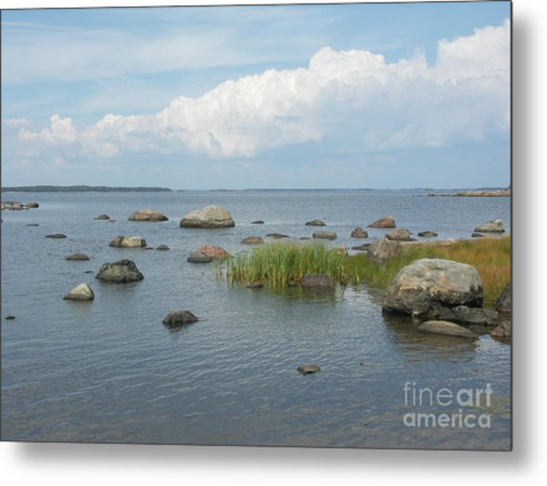 Rocks On The Baltic Sea Metal Print