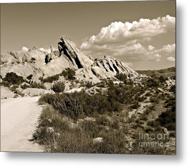 Rocks On Warm Wind Metal Print